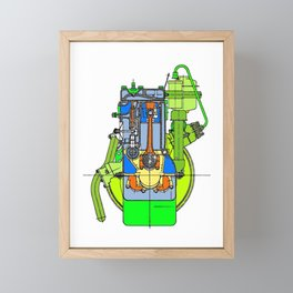 ICE 03 Framed Mini Art Print