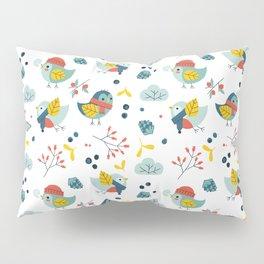winter birds pattern Pillow Sham