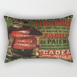 Vintage poster - Tranformation Du Tisserand Rectangular Pillow