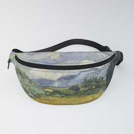 Wheatfield with Cypresses Fanny Pack