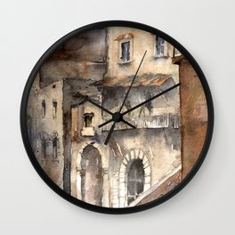 Cortona, Italy Wall Clock