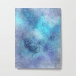 cosmic blue abstract Metal Print