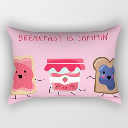 Breakfast Is Jammin' Rectangular Pillow