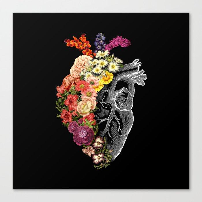 Flower Heart Spring Leinwanddruck