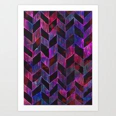 PATTERN {Chevron 014} Art Print