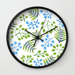 Leaves and more leaves Wall Clock