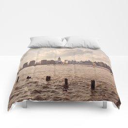Midtown at dusk 2 Comforters