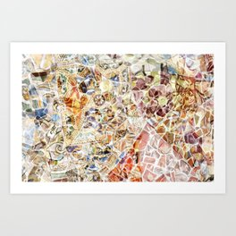 Mosaic of Barcelona IV Art Print