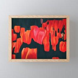 Tulip field, original abstract painting Framed Mini Art Print