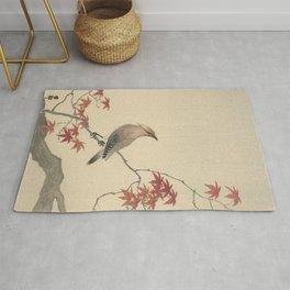 Japanese Maple Songbird  Rug