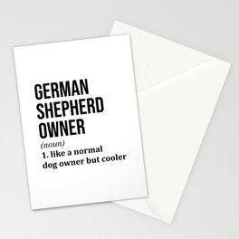 German Shepherd Dog Owner Funny Stationery Cards