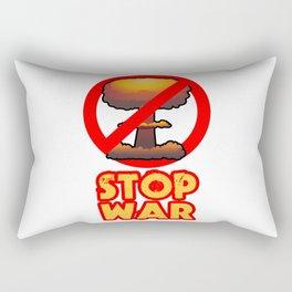STOP WAR No Bomb Sign Rectangular Pillow