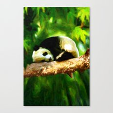 Baby Panda Resting - Painting Style Canvas Print