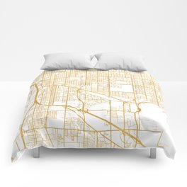 TUCSON ARIZONA CITY STREET MAP ART Comforters