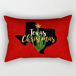 Texas Christmas Cactus Rectangular Pillow