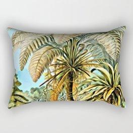 TROPICAL JUNGLE-Ernst Haeckel Rectangular Pillow