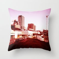 Trains to Central Throw Pillow
