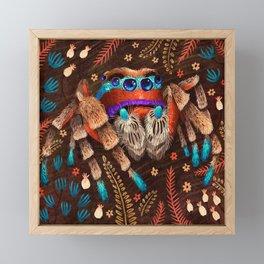 Jumping Spider Framed Mini Art Print