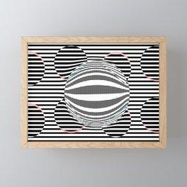 Deformed dots and lines Framed Mini Art Print
