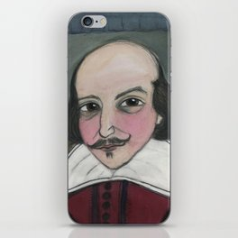 Much Ado About Shakespeare, Illustrated Writers Portrait iPhone Skin