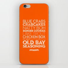 Baltimore — Delicious City Prints iPhone & iPod Skin