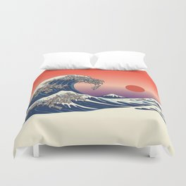 The Great Wave of Sloth Duvet Cover