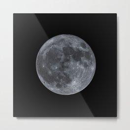 December Super Moon Metal Print
