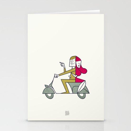 Lovers hug Stationery Cards