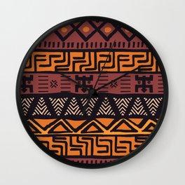Tribal ethnic geometric pattern 021 Wall Clock