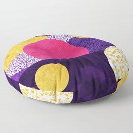 Terrazzo galaxy purple night yellow gold pink Floor Pillow