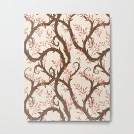 Entangled - Pink and Cream Metal Print