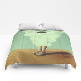 Magritte's Bowler Hat Comforters