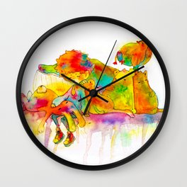 Tired day Wall Clock