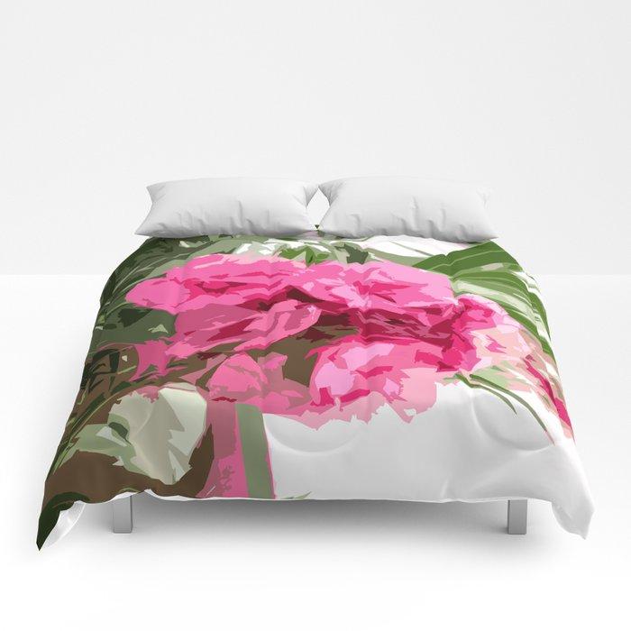 Summer oleander Comforters
