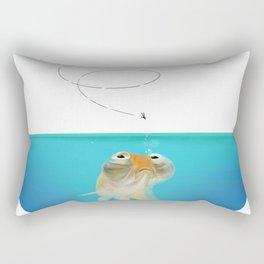 The Goldfish Diet Rectangular Pillow