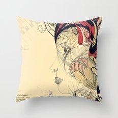 flame flower Throw Pillow