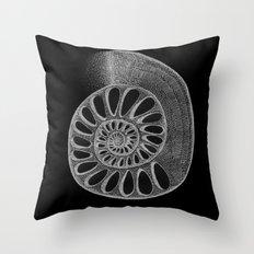 gyre black Throw Pillow
