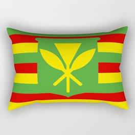 Kanaka Maoli people ethnic flag hawaii native Rectangular Pillow