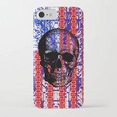 US Skull in a digital circuit. iPhone 7 Slim Case