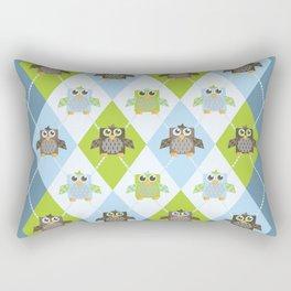 Argyle Owls Rectangular Pillow