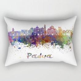 Padua skyline in watercolor Rectangular Pillow