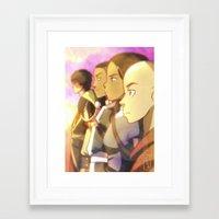 avatar the last airbender Framed Art Prints featuring Avatar The Last Airbender by YAMsgarden