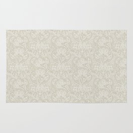 Paisley cream lacy ornament Rug
