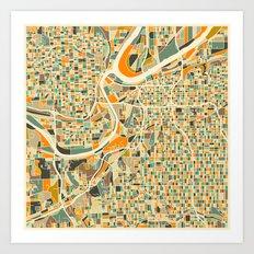 KANSAS CITY Map Art Print