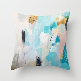 Sea Glow Throw Pillow
