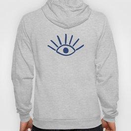 Navy Evil Eye Pattern Hoody