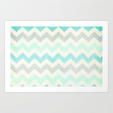 Crazy for Chevron - Vintage Slate Art Print