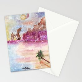 A New World Watercolor Art Illustration Stationery Cards