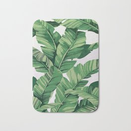 Tropical banana leaves VI Bath Mat