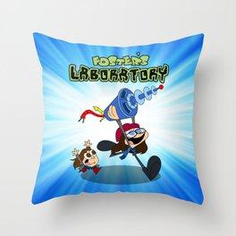 Jane Foster's Laboratory Throw Pillow